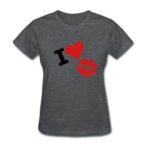 i love kiss - Women's T-Shirt