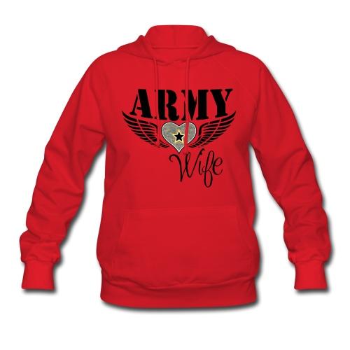 ARMY WIFE w/ WINGED HEART HOODIE - Women's Hoodie