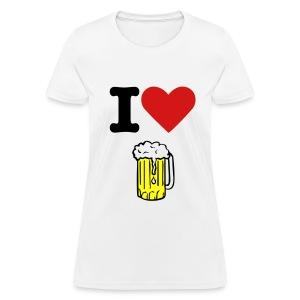 I Love Beer - Women's T-Shirt