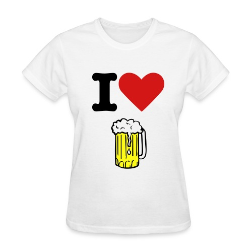 I Love Beer - Women's T-Shirt