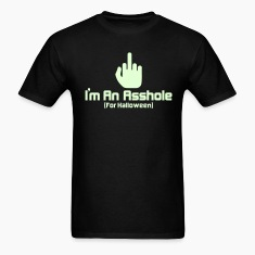 Black Halloween Asshole T-Shirts
