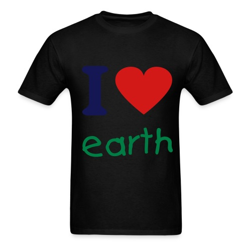 i love earth. - Men's T-Shirt