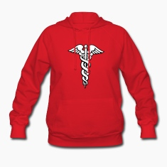Red Caduceus Hoodies