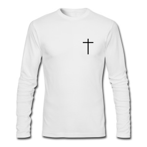The  Cross - LS White - Men's Long Sleeve T-Shirt by Next Level