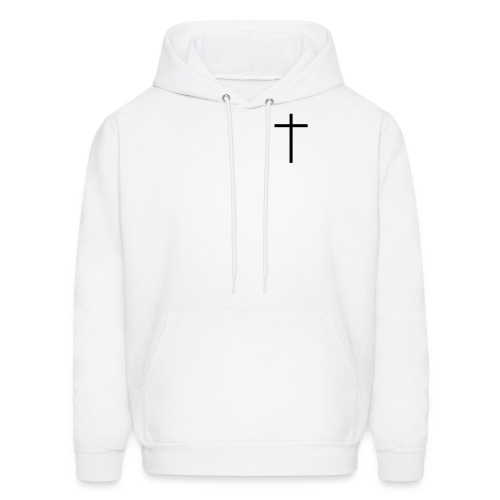 Jesus/The Cross - White/Black - Men's Hoodie