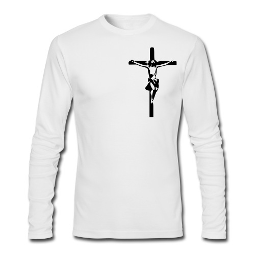 Jesus - LS White - Men's Long Sleeve T-Shirt by Next Level