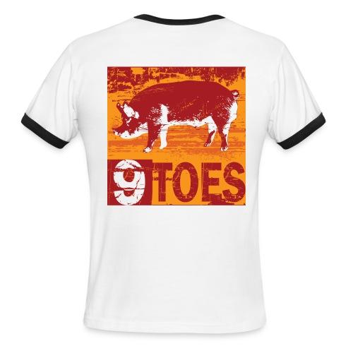 9 Toes BBQ - Men's Ringer T-Shirt