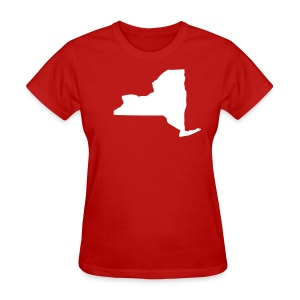 New York state map - Women's T-Shirt