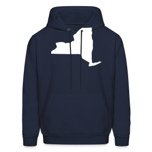 New York state map - Men's Hoodie