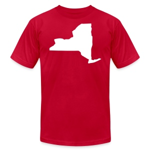 New York state map - Men's Fine Jersey T-Shirt