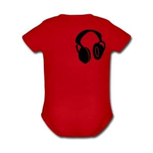 haedphones - Short Sleeve Baby Bodysuit