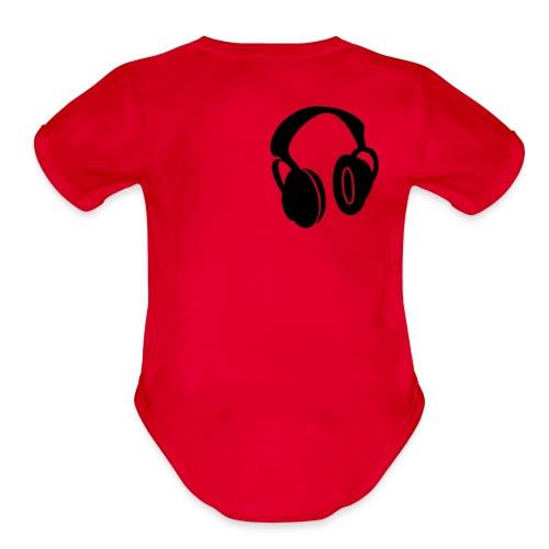 haedphones - Organic Short Sleeve Baby Bodysuit