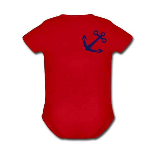 anchor - Organic Short Sleeve Baby Bodysuit