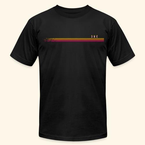 Robo-Collection: Pixelstripe - Men's Fine Jersey T-Shirt
