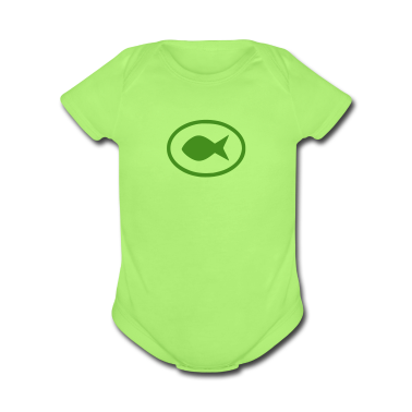 Mint green fishsign Baby Body