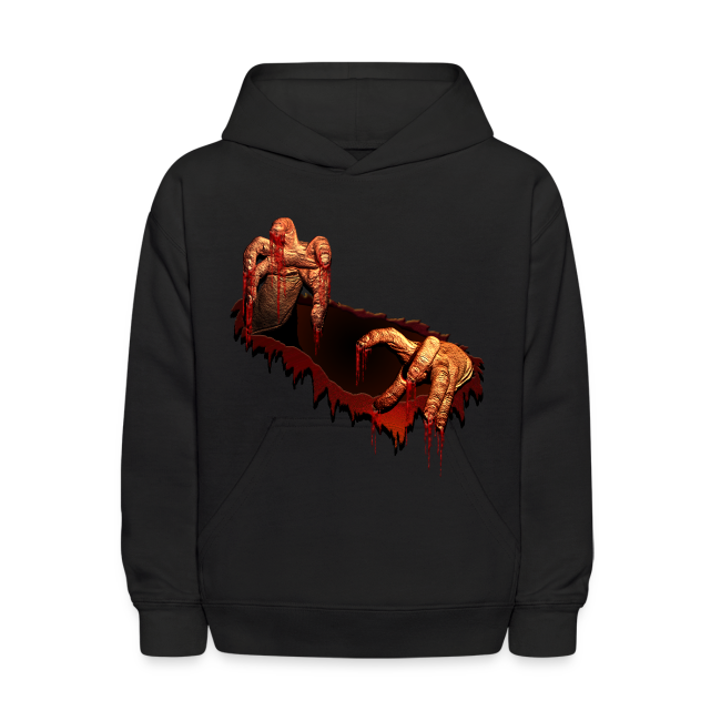 Kid's Zombie Hoodie Gory Halloween Scary Zombie Gifts