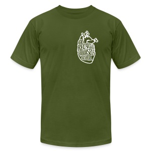 Recycle Heart - Men's T-Shirt by American Apparel