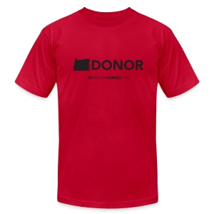 Oregon Donor - Men's T-Shirt by American Apparel