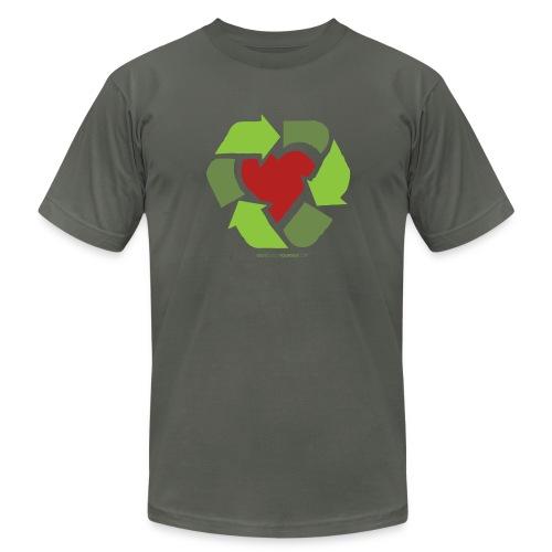 Recycle Heart - Men's Fine Jersey T-Shirt