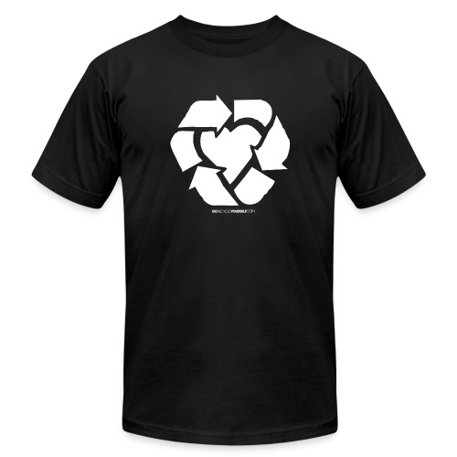 Recycle Heart - Men's Fine Jersey T-Shirt