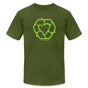Recycle Heart 2 - Men's T-Shirt by American Apparel