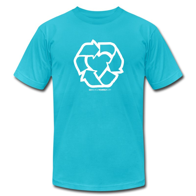 Recycle Heart 2 - Men's Fine Jersey T-Shirt