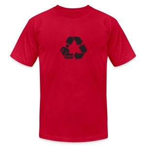 Recycle Person - Men's T-Shirt by American Apparel