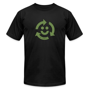 Recycle Happy - Men's T-Shirt by American Apparel