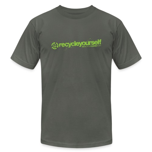 Go Recycle Yourself Happy Face - Men's T-Shirt by American Apparel