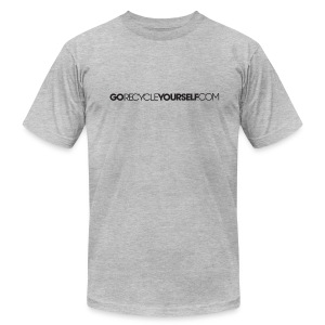 GoRecycleYourself.com - Men's T-Shirt by American Apparel