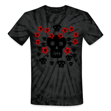 Spider black Multitude of Skulls With Stars--DIGITAL DIRECT PRINTING ONLY! T-Shirts