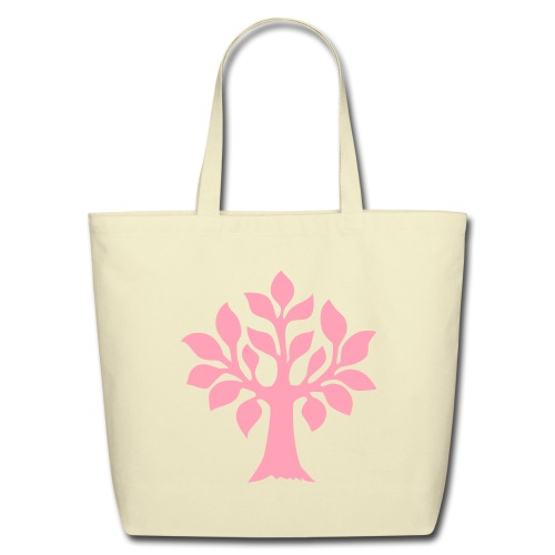 Quintessence pink tree tote - Eco-Friendly Cotton Tote