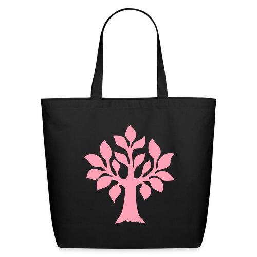Quintessence pink tree tote - Eco-Friendly Cotton Tote