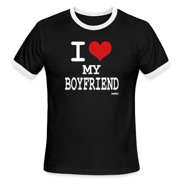 Black/white i love my boyfriend by wam T-Shirts