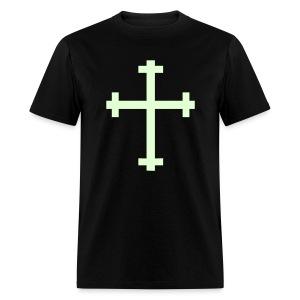 Glow in the dark Crucifix - Men's T-Shirt