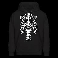 Hoodies ~ Men's Hoodie ~ Skeleton Ribs Hoodie