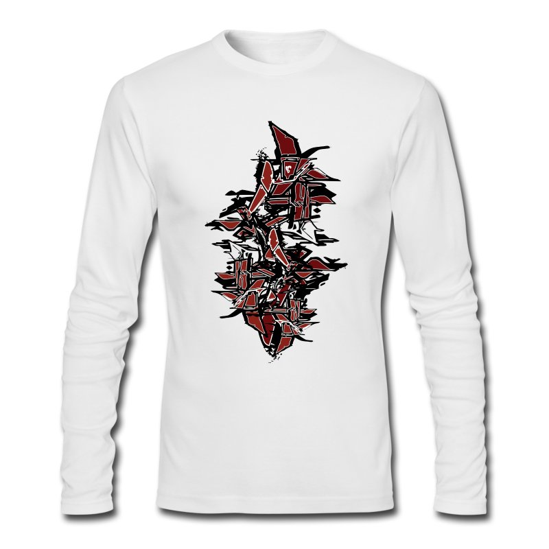 Cool tagged graffiti t shirt spreadshirt for Cool long sleeve t shirts for men