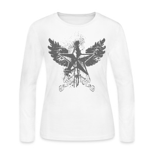 Womens Designer Longsleeve T shirt - Women's Long Sleeve Jersey T-Shirt