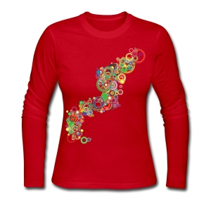 Womens Designer Longsleeve T-shirt - Women's Long Sleeve Jersey T-Shirt