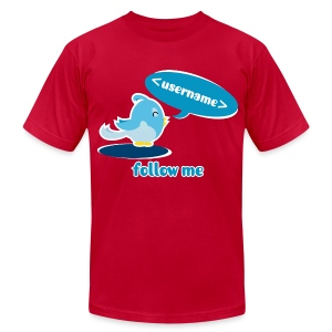 Happy twitter bird shirt. Customizable - Men's T-Shirt by American Apparel