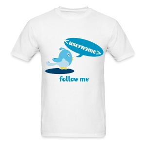 Happy twitter bird shirt. Customizable - Men's T-Shirt