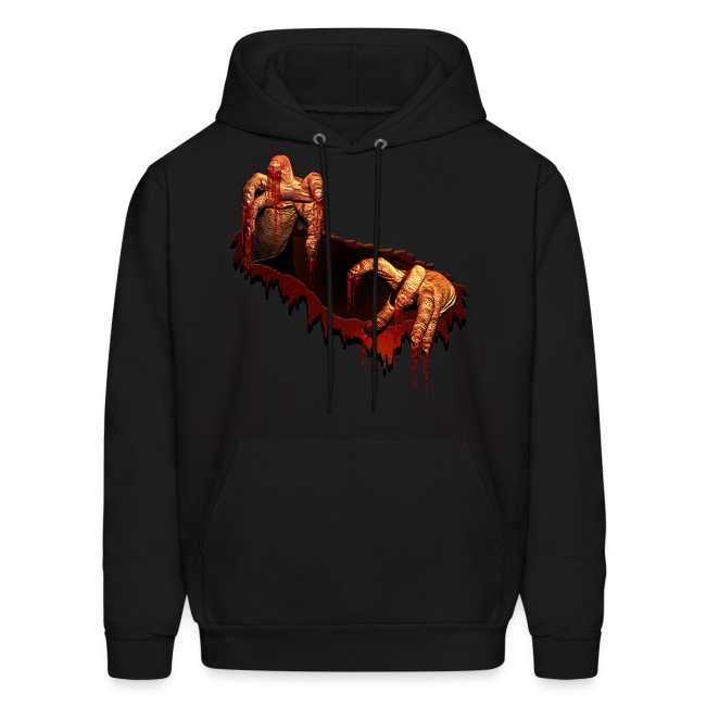 Zombie Hoodie Gory Halloween Scary Zombie Gifts