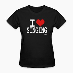 Black i love singing by wam Women's T-Shirts