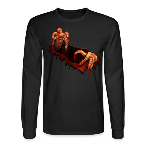 Zombie Shirts Gory Halloween Scary Zombie Costume Shirt - Men's Long Sleeve T-Shirt