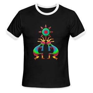Two Kokopelli #1 - Men's Ringer T-Shirt