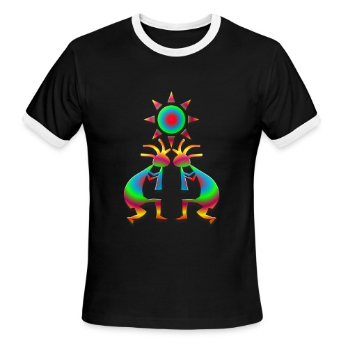 Two Kokopelli #1 - Men's Ringer T-Shirt