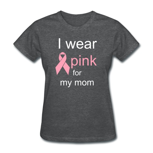 wear pink for Mom - Women's T-Shirt