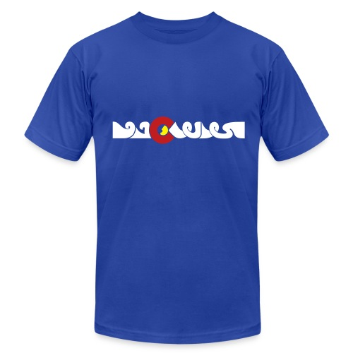 Colorado in Arabic t-shirt (Men's/Unisex Royal Blue) - Men's Fine Jersey T-Shirt
