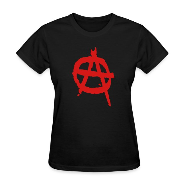 Anarchy Symbol Women's Tee Shirt
