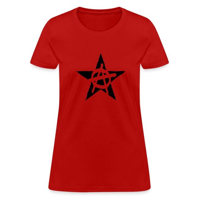 Anarchist Black Star Women's Tee Shirt